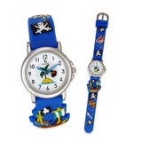 crystal blue Kinderuhr Pirat